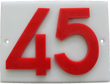 Shed number plastic - No 45