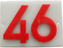 Shed number plastic - No 46