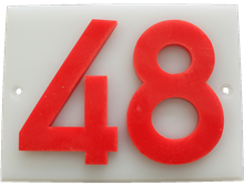Shed number plastic - No 48
