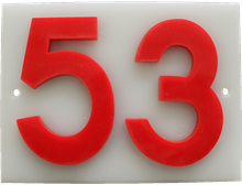 Shed number plastic - No 53