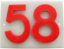 Shed number plastic - No 58