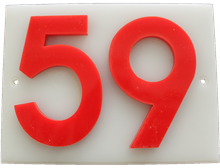 Shed number plastic - No 59