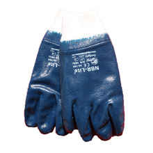 Glove NBR, blue, size CE 10 Ox-On