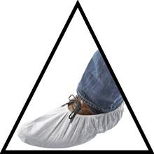 Shoe cover de Luxe, white