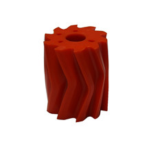 Scrape roll, V-shape, 10T, Orange SH84 Ø115 x 130mm