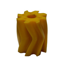 Scrape roll, V-shape, 8T, Yellow SH 86 Ø115 x 130mm