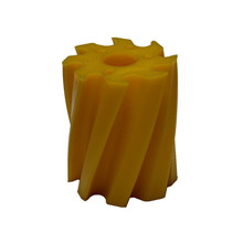 Scrape roll, Twisted CW, 8T, Yellow SH86 Ø115 x 130mm