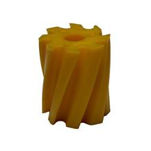 Skraberulle, snoet med uret, 8 tands, gul, shore 86, Ø115 mm x 130 mm