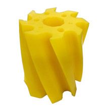 Scrape roll, Twisted CCW, 8T, Yellow SH86 Ø115 x 130mm