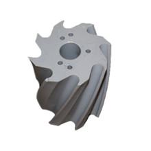 Skraberulle, snoet med uret, 8 tands, grå, shore 88,  Ø132 mm x 158 mm