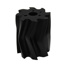 Scrape roll, V-shape, 8T, Black SH92 Ø132 x 158mm