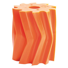 Scrape roll, V-shape, 10T, Orange SH84 Ø132 x 158mm