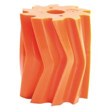 Skraberulle, V-form, 10 tands, orange, shore 84 Ø132 mm x 158 mm