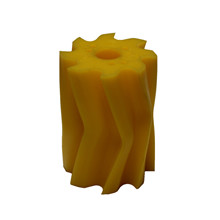Scrape roll, V-shape, 8T, Yellow SH86 Ø132 x 158mm