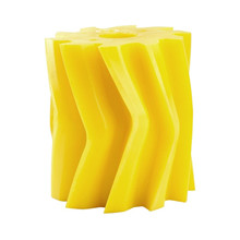 Scrape roll, V-shape, 10T, Yellow SH86 Ø132 x 158mm