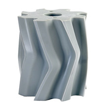 Scrape roll, V-shape, 8T, Grey SH88 Ø132 x 158mm