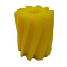 Scrape roll, Twisted CW, 10T, Yellow SH86 Ø132 x 158mm
