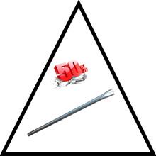 """5/4"""" Galv. rør for nedstøbning længde 1200 mm."""