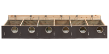 """HG Redekasse fyr/birk 206 +2""""  (120 mm hul) 6 rums til indsats, med skodskinner"""