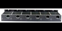 """HG Redekasse birkefiner 204 +2"""" (120 mm hul) 6 rums for indsats, med skodskinner"""