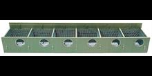 HG Redekasse Chipboard grøn 206 (130 mm hul) 6 rums til indsats
