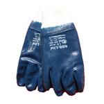 Handske Blå blød med rib