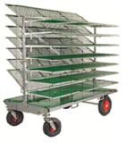 HG Wózek do schładzania tuszek Xl, 7 półek Szer. półki 200cm wys. z rozłożonymi półkami 187cm