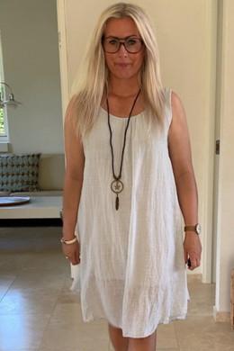 eb66c002 Harper strop dress, LIGHT GREY W. NECKLACE - sommer kjole fra New Wear -  Altid gratis fragt i DK
