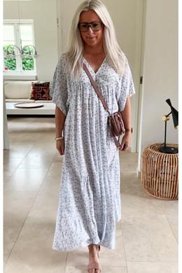 b8f6d95da5b Violetta long DRESS, WHITE - lang kjole fra New Wear - altid gratis fragt i  DK
