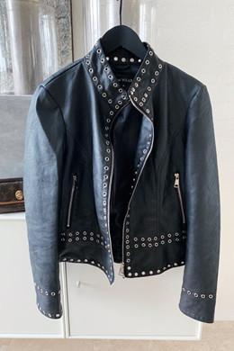 Yoanna JACKET, BLACK læder look jakke fra New Wear altid