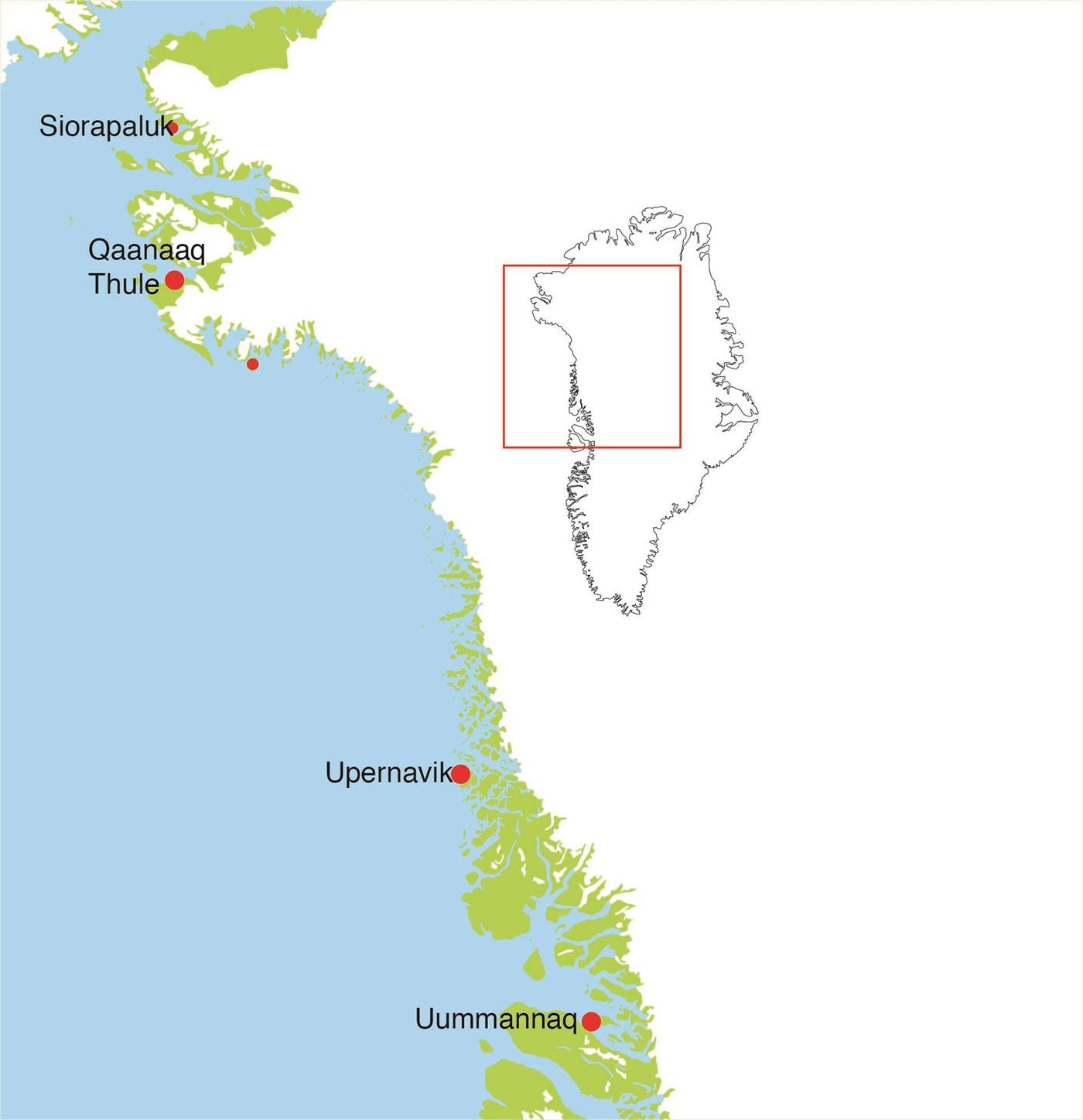 Kort Over Nordgronland Gronland