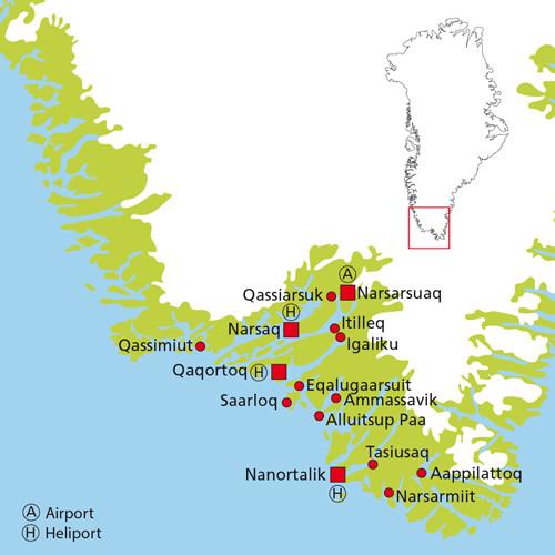 Kort Over Sydgronland Gronland