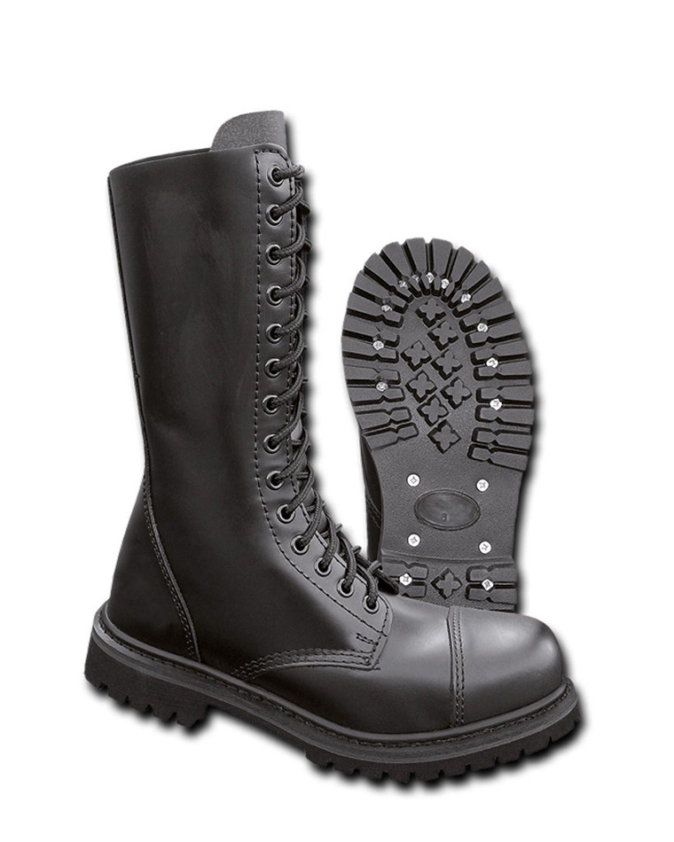 Køb Brandit Phantom Lærstøvler 14 maljer | Enkel Retur