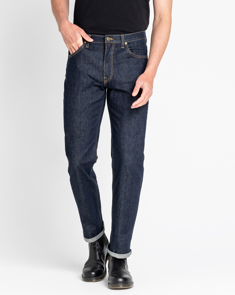 Lee Jeans New Lee Brooklyn Mens  Regular Comfort Fit Jeans Dark Stonewash