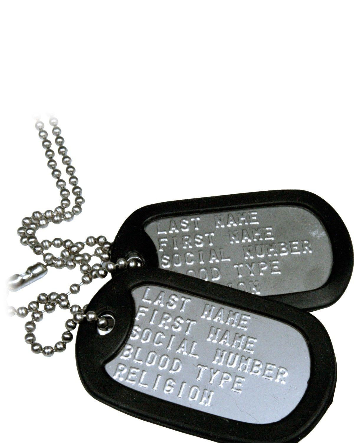 Image of   Army Star Dog Tags 2003 (Rustfrit Stål, One Size)