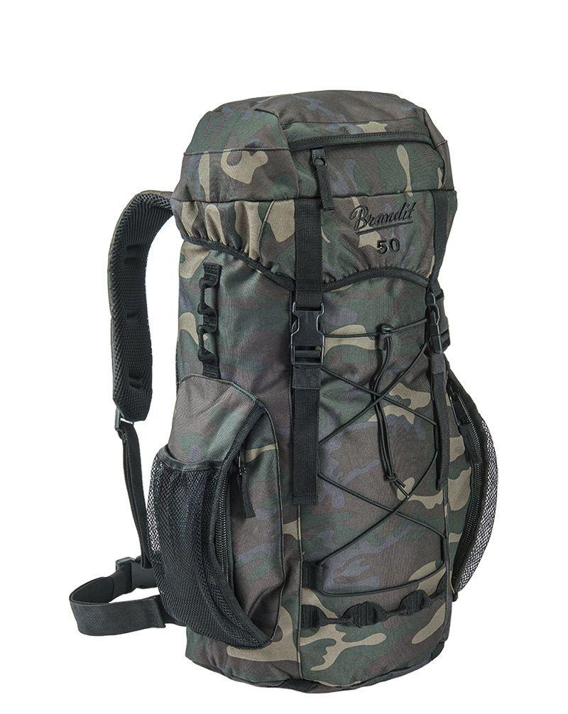 Image of   Brandit Aviator Rygsæk - 50 liter (Black Camo, One Size)