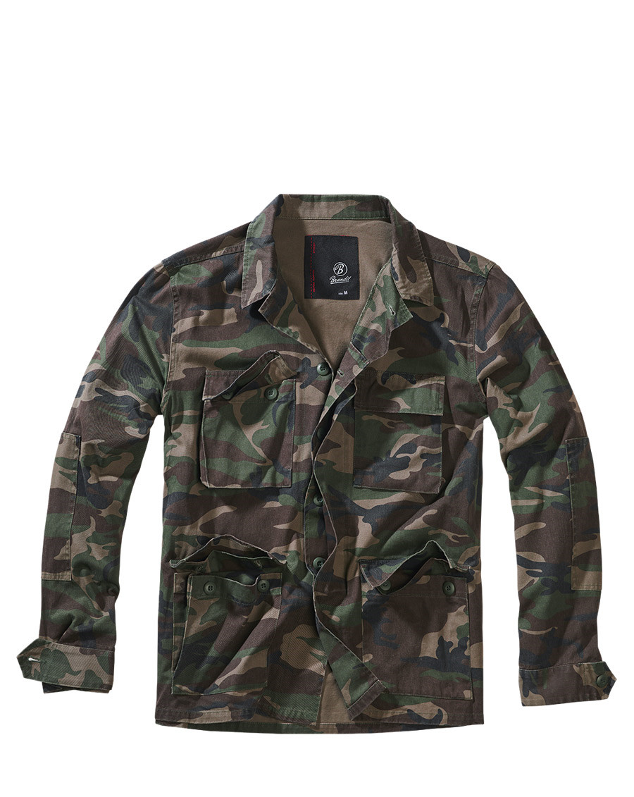 Image of   Brandit BDU Jakke, Twill (Woodland, 2XL)