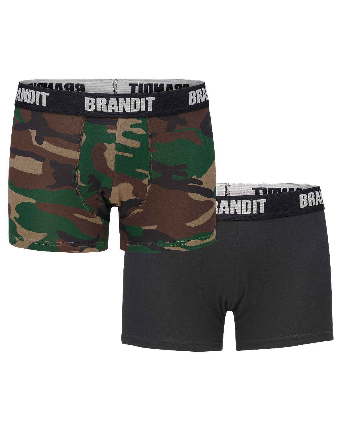 Image of   Brandit Boxershorts Logo 2er Pack (Woodland / Black, 2XL)