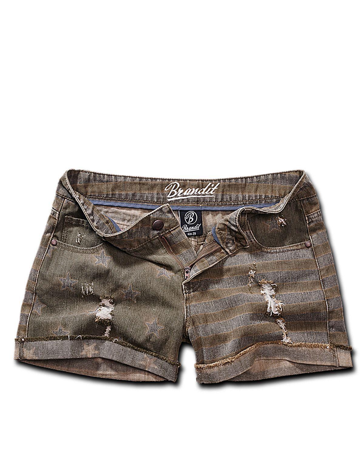 Image of   Brandit Denim Hotpants (Oliven, 29)