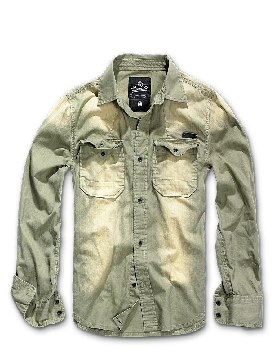 Image of   Brandit Hardee Vintage Skjorte (Oliven, 2XL)