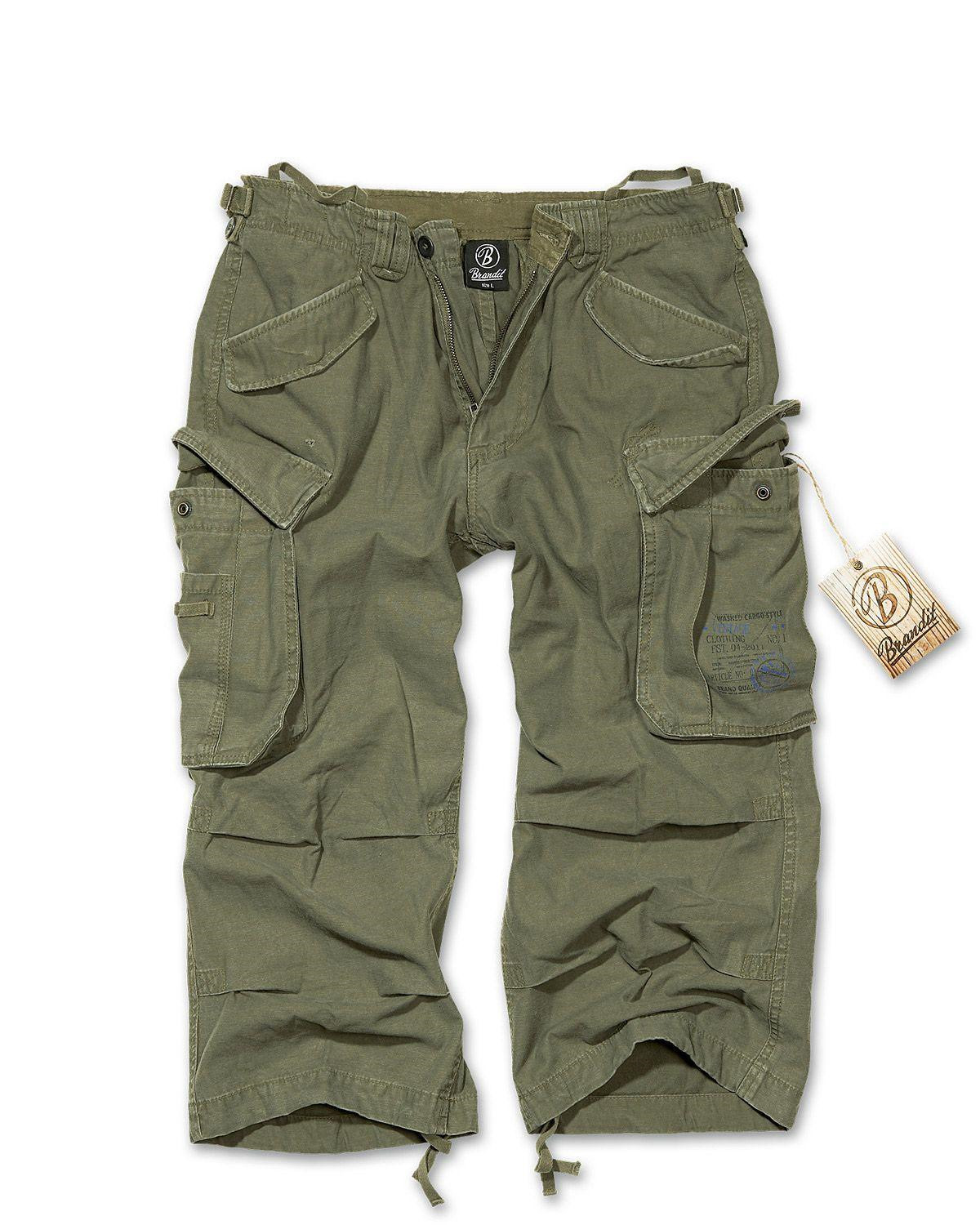 Image of   Brandit Industry Vintage 3/4 Pants (Oliven, 2XL)