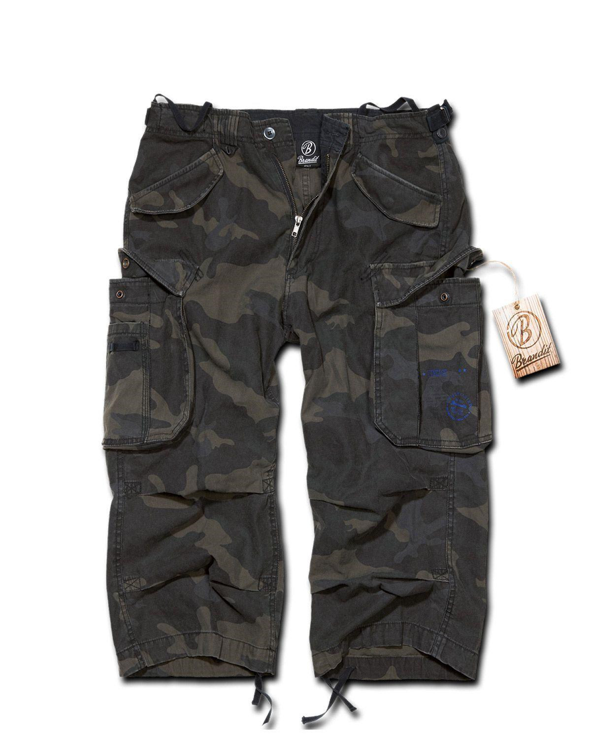 Image of   Brandit Industry Vintage 3/4 Pants (Black Camo, 2XL)