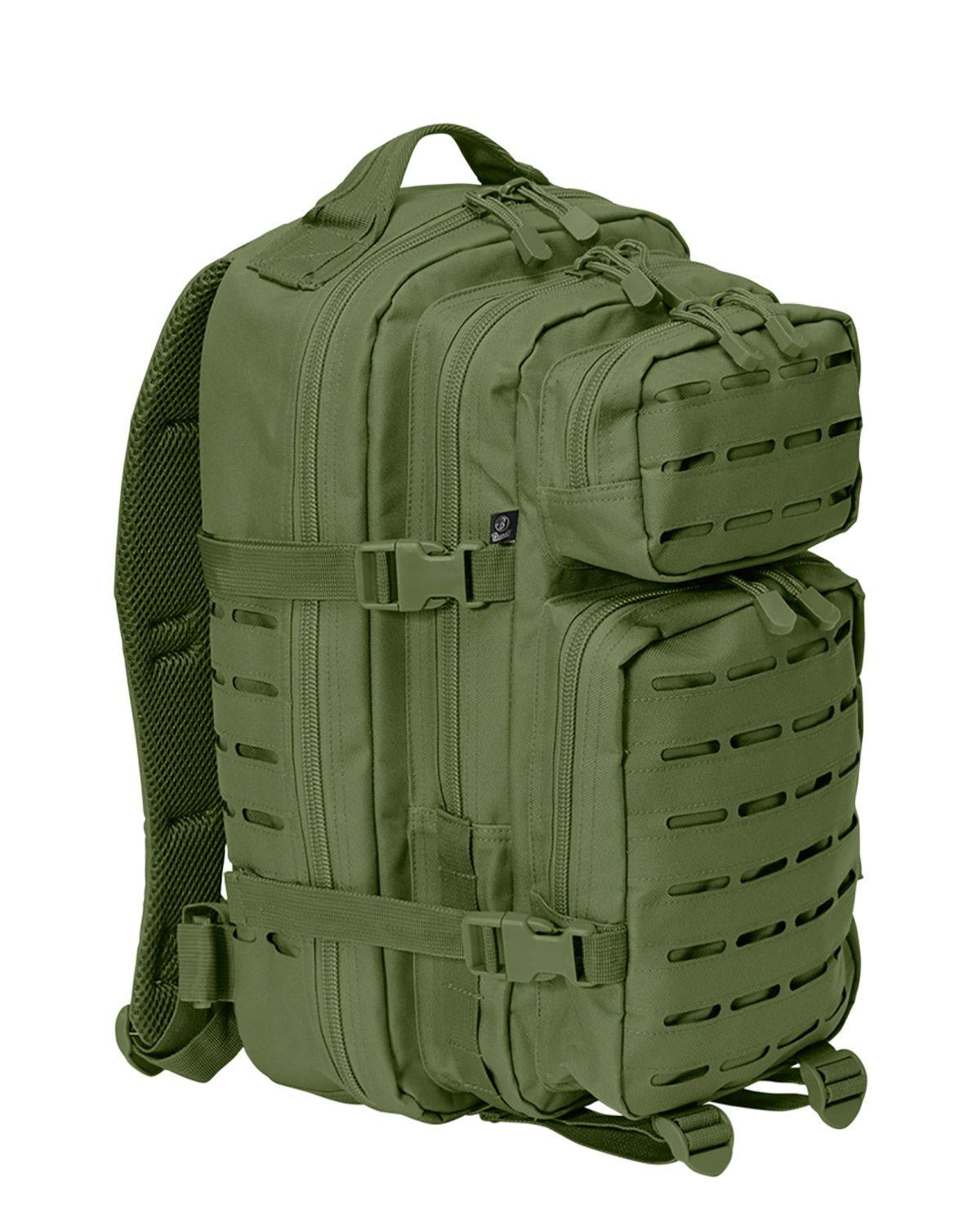 Image of   Brandit Laser Cut Assault Rygsæk - 35 Liter (Oliven, One Size)