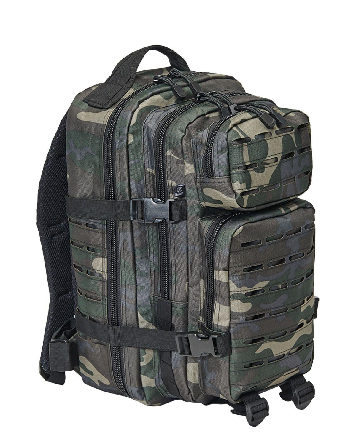 Image of   Brandit Laser Cut Assault Rygsæk - 35 Liter (Black Camo, One Size)