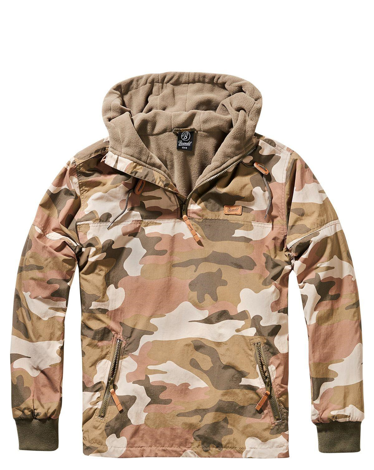 Image of   Brandit Luke Windbreaker Anorak (Light Woodland, 2XL)