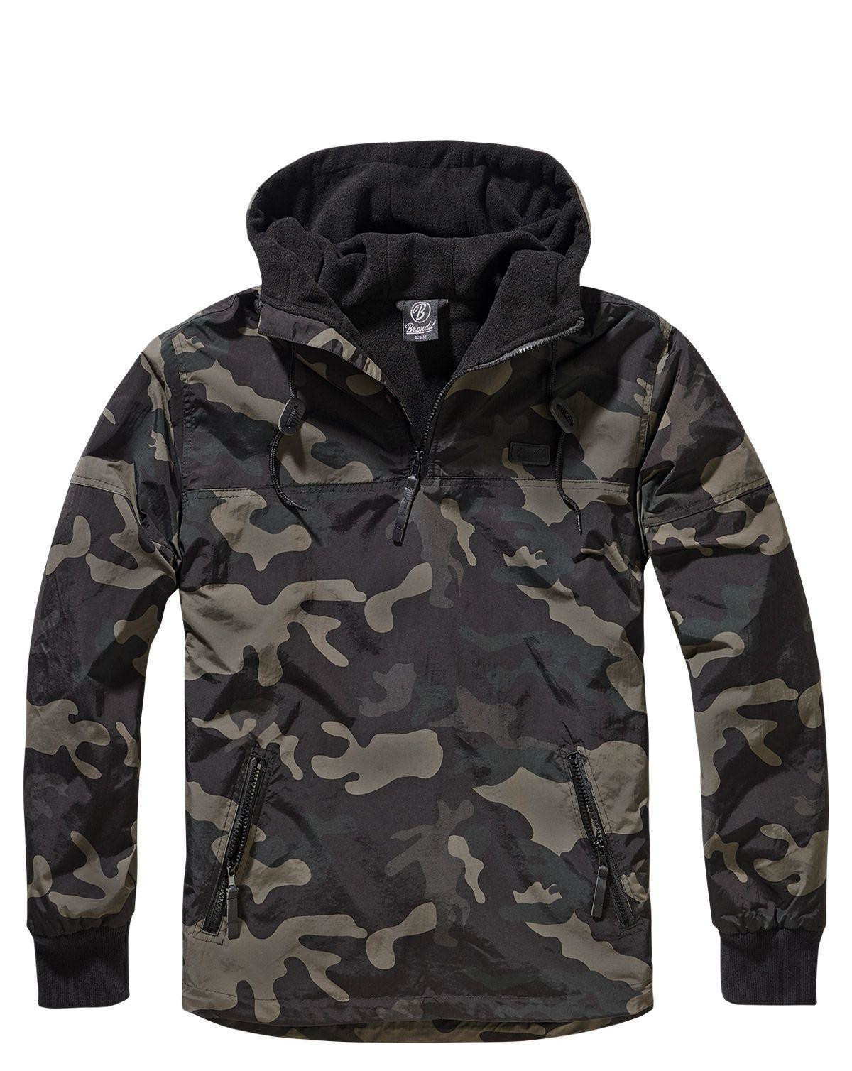 Image of   Brandit Luke Windbreaker Anorak (Dark Camo, 2XL)