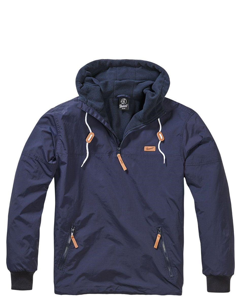 Image of   Brandit Luke Windbreaker Anorak (Navy, 2XL)
