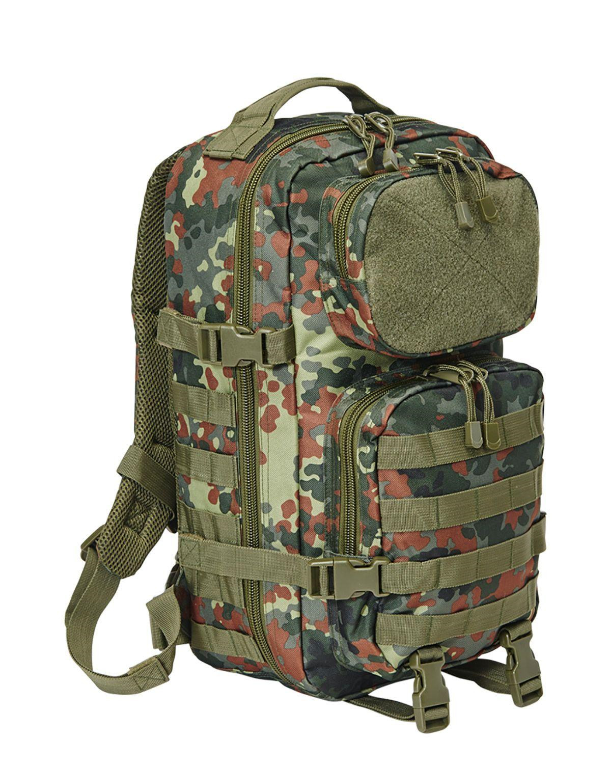 Image of   Brandit Patch Assault Rygsæk - 25 Liter (BW Flecktarn Camo, One Size)