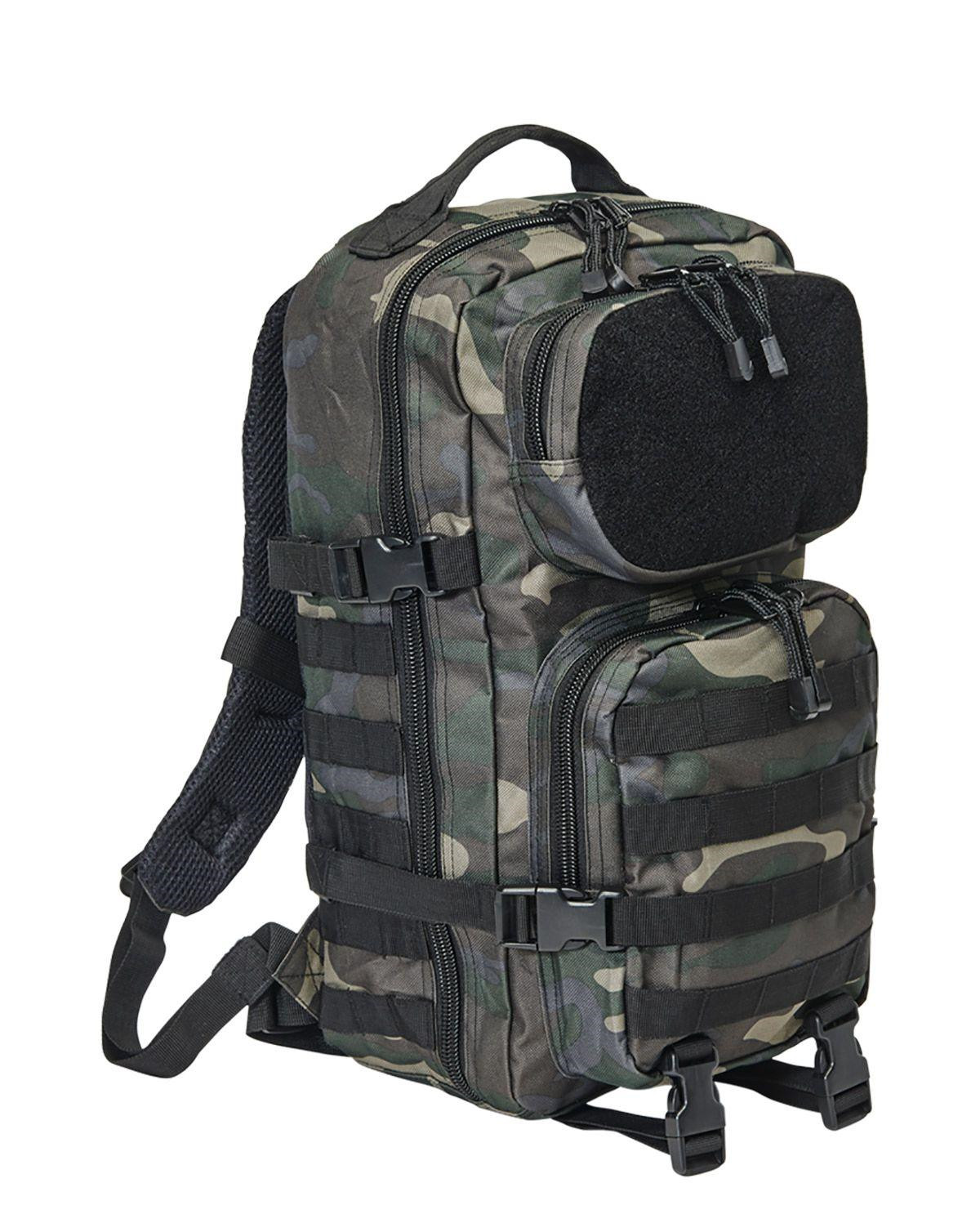 Image of   Brandit Patch Assault Rygsæk - 25 Liter (Black Camo, One Size)