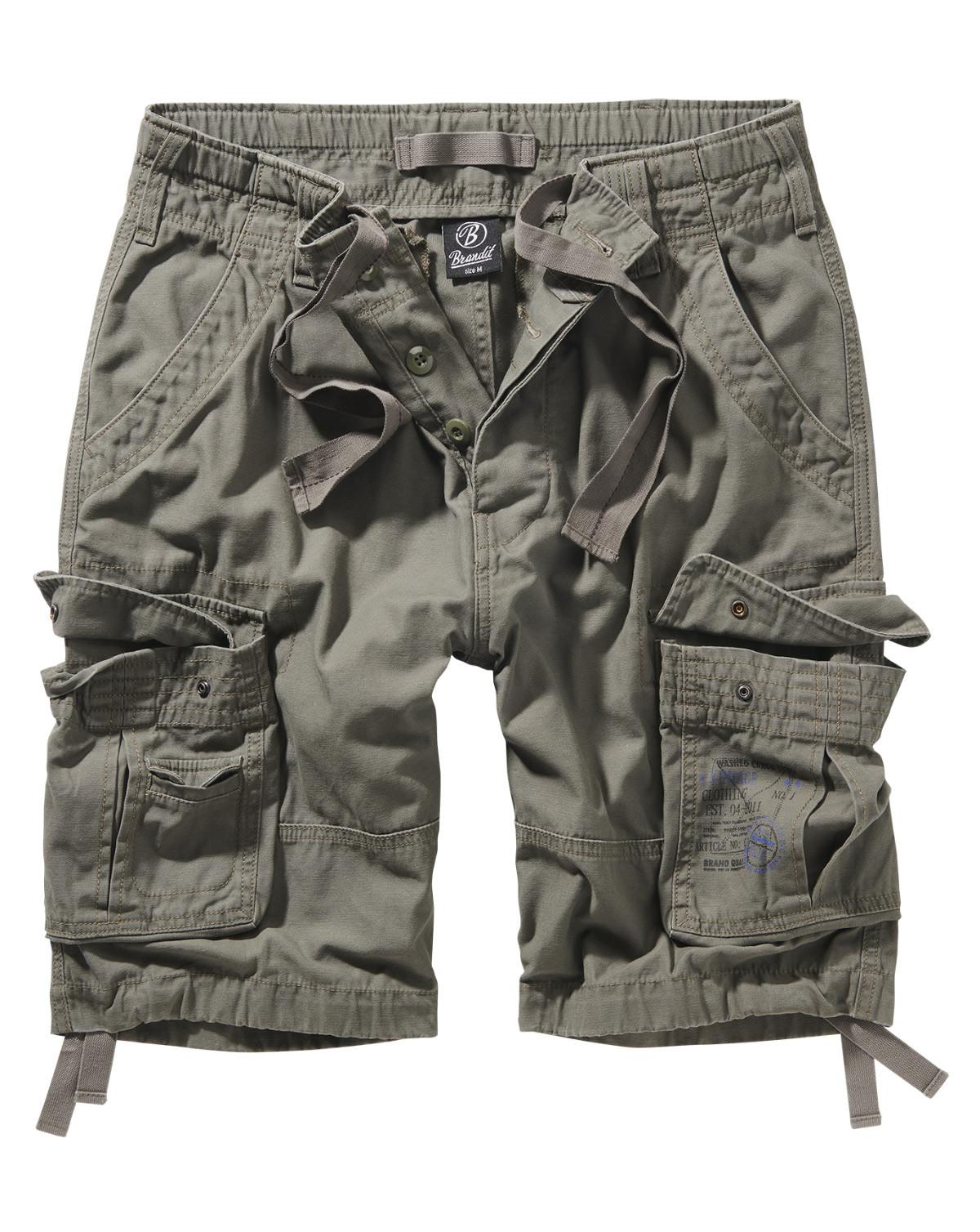Image of   Brandit Pure Vintage Shorts (Oliven, 2XL)